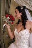 Bride profile — Stock Photo