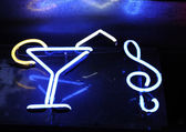 Cocktail and G clef sign — Stock Photo