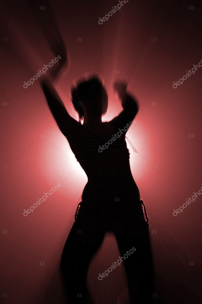 Silhouette of dancing woman  Stock Photo #1285981