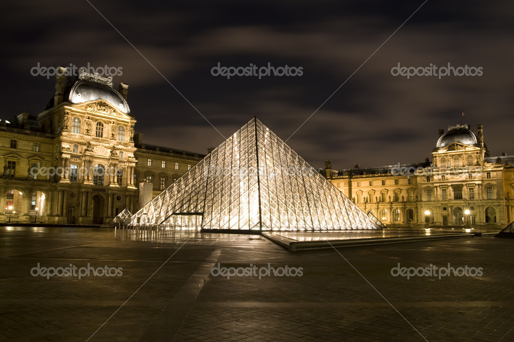 Louvre - famous museum of France. In this museum situated Mona Lisa (Gioconda). Paris, december of 2008  Stock Photo #1286435