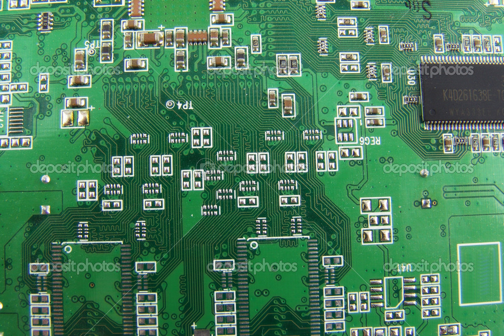 Macro of video card  Stock Photo #1515900