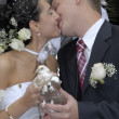 Kissing married couple — Stock Photo