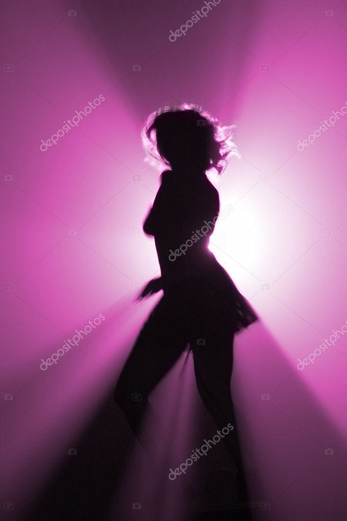 Shape of party disco dancer in pink color — Stock Photo #1706573