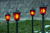 Four lanterns — Stock Photo