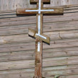 Old wooden cross — Stock Photo