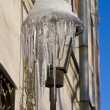 Stock Photo: City lantern with icicles
