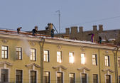 Work on a roof — Stock Photo