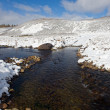 Winter mountain river — Foto de Stock