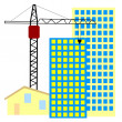 Stock Vector: Symbol of construction activity
