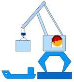 Dock crane — Stock Vector