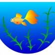 Aquarium with goldfish — Stock Vector