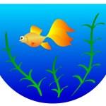 Aquarium with goldfish — Stock Vector #1325136