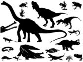 Collection of reptiles — Stock Vector