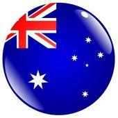 Schaltfläche australien — Stockvektor