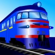Stock Vector: Electric train