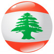 Stock Vector: Button Lebanon