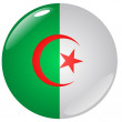 Stock Vector: Button Algeria