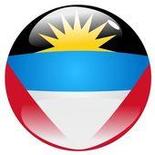 Button Antigua and Barbuda — Stock Vector
