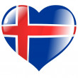 Iceland in heart - Stock Vector