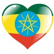 Ethiopia in heart — Stock Vector