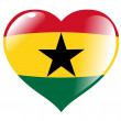 Ghana in heart — Stock Vector
