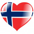 Norway in heart — Stock Vector