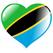 Tanzania in heart — Stock Vector