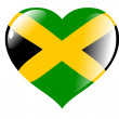 Stock Vector: Jamaicin heart