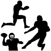 Silhouette of football player — Stockvector