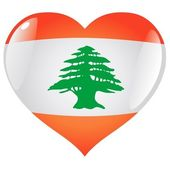 Lebanon in heart — Stock Vector