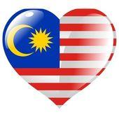 Malaysia im herzen — Stockvektor