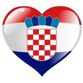 Croatia in heart — Stock Vector