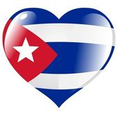 Cuba in heart — Stock Vector