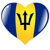 Barbados in heart — Stock Vector