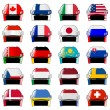 Stock Vector: Symbols of hockey nations