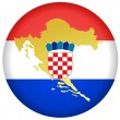 Vector de stock : Button Croatia