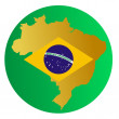 Button Brazil - Stock Vector