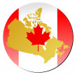 Stock Vector: Button Canada