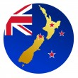 Stock Vector: Button New Zealand