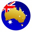 Stock Vector: Button Australia