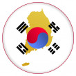 Button South Korea — Stock Vector #1416856