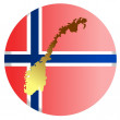Button Norway - Stock Vector