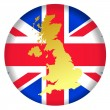 Button United Kingdom — Vector de stock #1417966