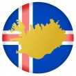 Button Iceland 	button Iceland — Stock Vector