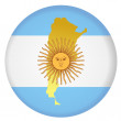 Button Argentina — Stock Vector
