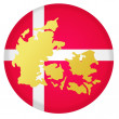 Button Denmark — Stock Vector