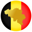 Stock Vector: Button Belgium