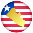 Stock Vector: Button Liberia