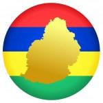 Button Mauritius — Stock Vector #1418838