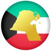 Pulsante kuwait — Vettoriale Stock